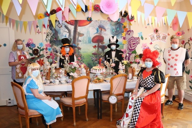 Birchwood House Mad Hatters tea party